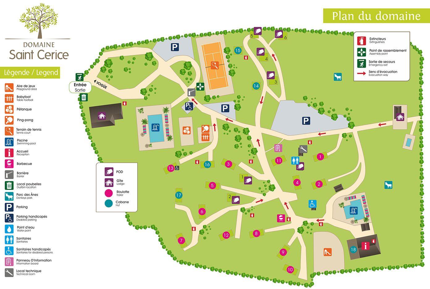 Plan du Domaine Saint Cerice